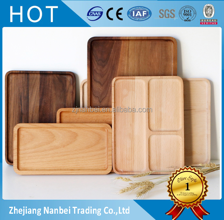 Custom logo wooden plate small wood snacks plates