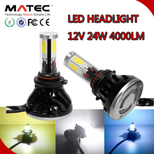 car accessory from China replacement with CE LED headlight 40W 12V 4000LM super bright led headlamp H4 h7 headlight bulb holder