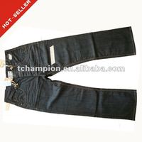 (#TG191M) 2012 latest design button fly closure coated men clothing jeans types