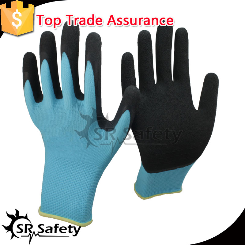 SRSAFETY 13G latex coated work gloves with cheap price ,by from china online