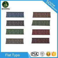 Cheap Flat stone coated metal roofing shingles,metal roofing sheet for house roof