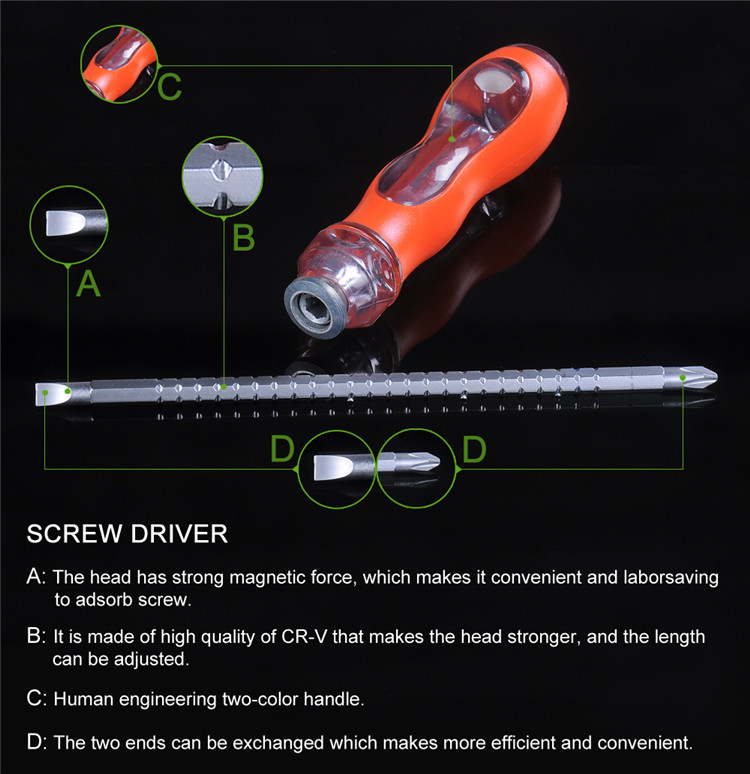 High precision plastic hand tool mini impact screwdriver
