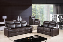 Living room furniture modern PU leather sectional sofas