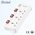 3 pin smart multi electrical power USB socket with protector tube