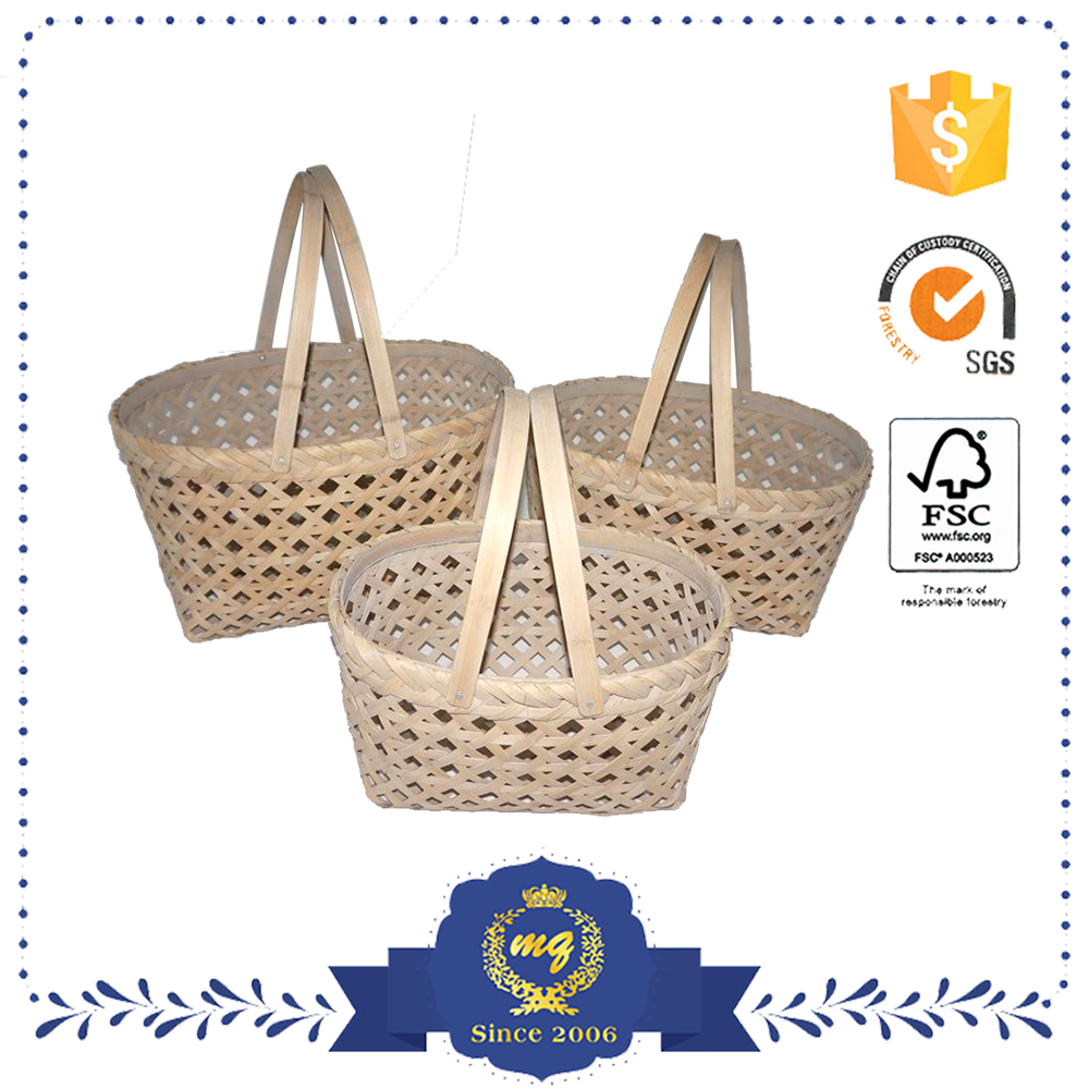 Food Storage Weaving Picnic Bamboo Basket