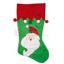 Christmas stocking , fabric red Xmas stocking , christmas santa knit stockings