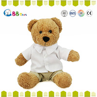 Sitting soft plush bear 11