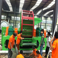 22 * 2KW CE Waste Tyre Shredding Machine For Rubber Tyre Of OTR