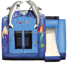 Sea world dolphin inflatable jumper small bounce house for kids B3006