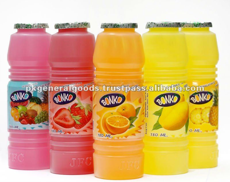 Fruit Drink Juice 180ml Plastic bottle BONKO brand