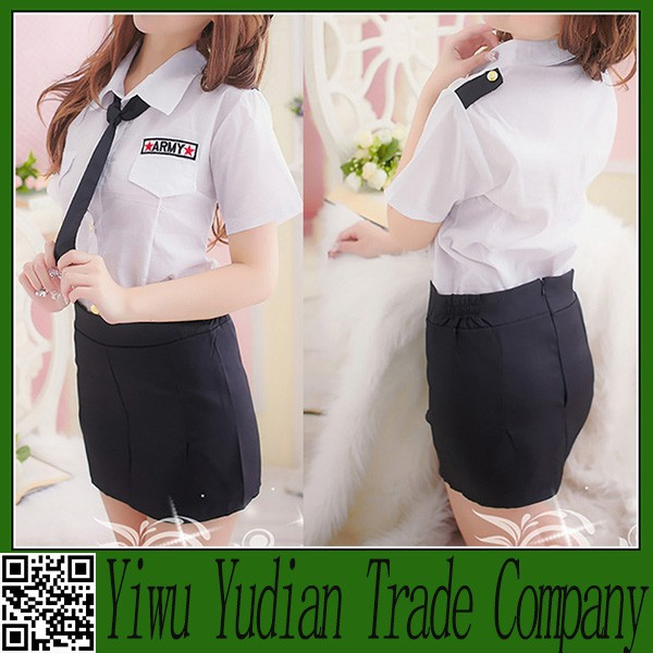 Stewardess Navy Sailor Sexy Girl Role Play Game Costume Stage Costume
