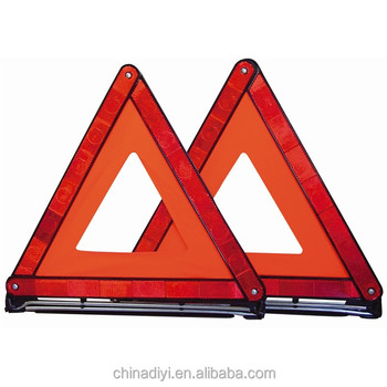 Road safety vehicle reflecting warning accessories triangle