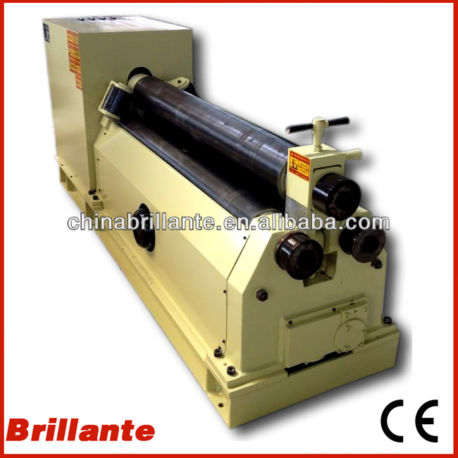 mechanical 3 roller plate bending machine 6mm,3200mm Manual 3 rolls steel rolling machine,Three roll sheet bending machine price