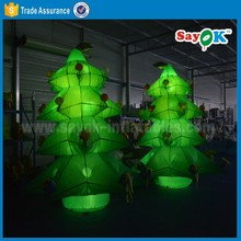 led christmas tree light mini inflatable christmas tree indoor