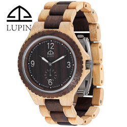 2018 men watch of wooden material with Japan movement ,meanwhile ,high quality and competitive price