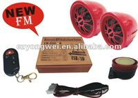 Motorcycle Alarm System mp3 player with built in speaker motorcycle alarm audio system motor siren YW 888B