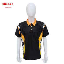 High quality wholesale racing shirt with custom design breathable dye sublimation racing jersey