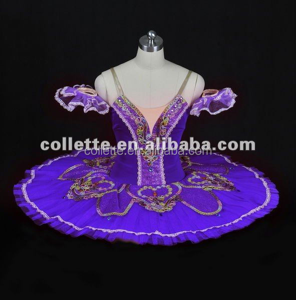 Purple nude lyrical leotard Tank leotard ballet classical pancake dance costume tutu