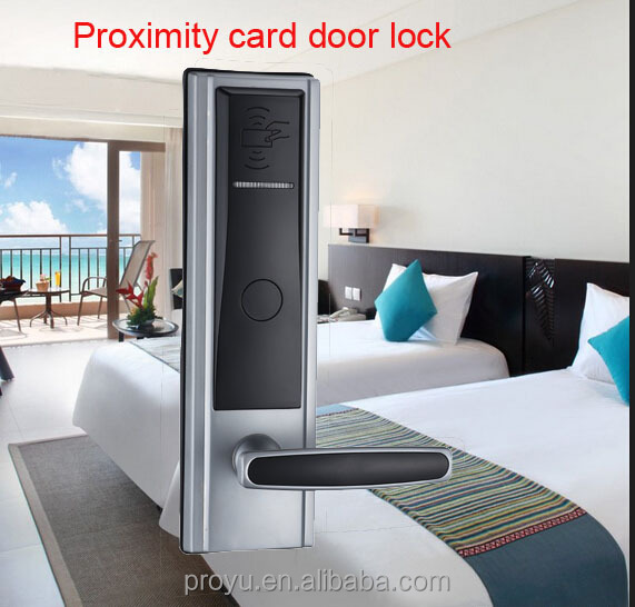 Best selling Proyu hotel keyless door lock, hotel card lock management software PY-8320-YH