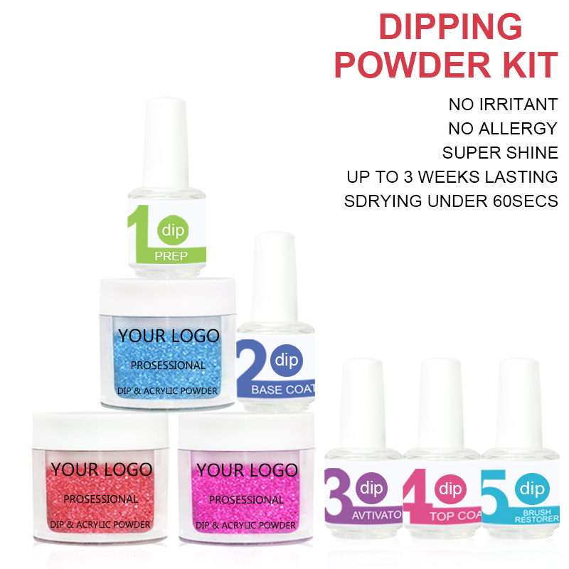 free sample top collection color organic dipping powder for nail