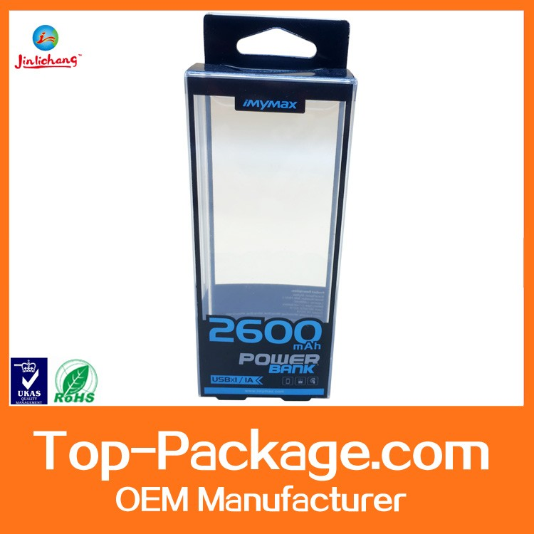 Custom Clear Plastic Box Plastic Packaging Box For Power Bank