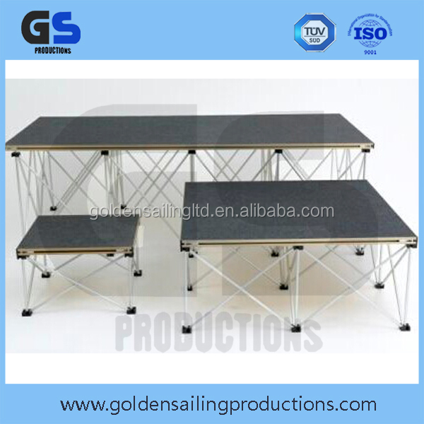 School event aluminum smart small stage , stage podium for speech