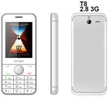 Latest Model 2017 Feature Phone T8 Bar 3G cellphone Dual Sim