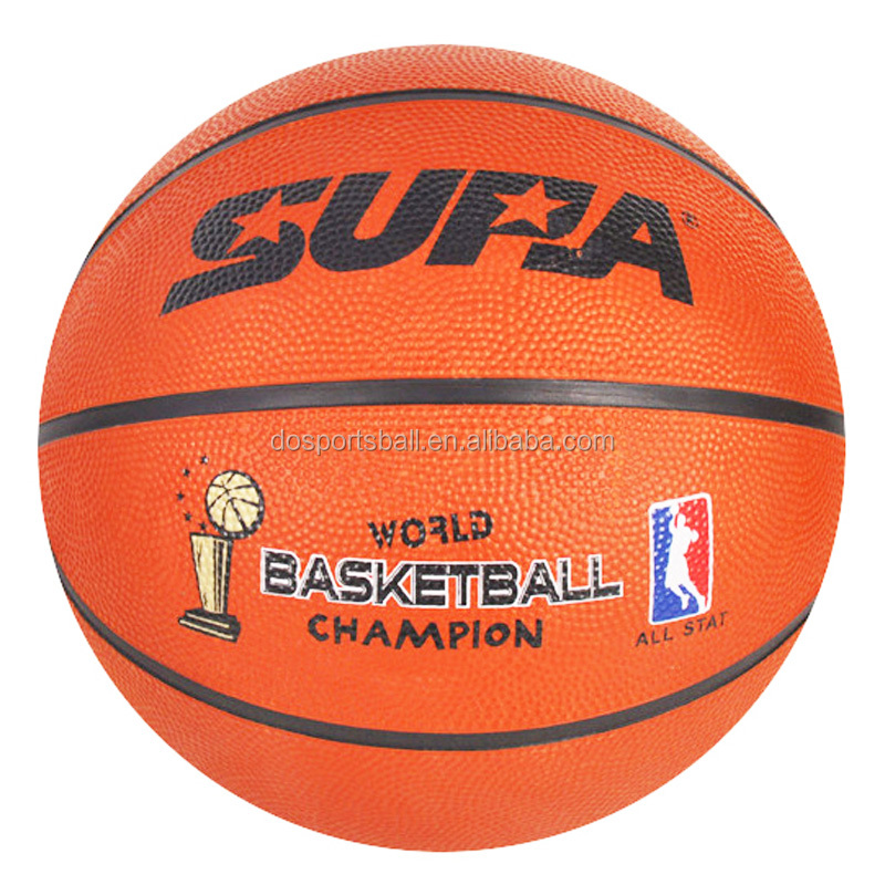 do sports ball custom made standard size 7 rubber basketball