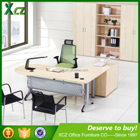 European style modern standard l-shaped wooden executive office furniture desk dimensions