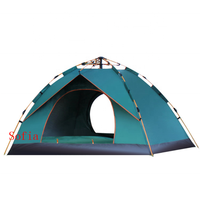 Outdoor equipment 3-4 people full automatic tent beach camping spring speed open tent double single-layer camping tent outdoor