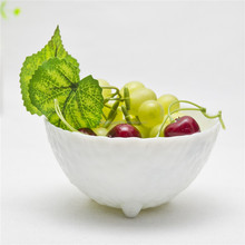 High Quality White Jade Colored Kitchen Sets Round Shaped Glass Salad Bowl Table Use Glassware