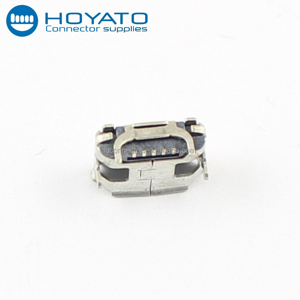 High quality 5Pin micro usb female connector DIP Type B Micro USB Female solder connector