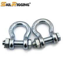 High Tensile Rigging Drop Forged Bolt Type Anchor Bow Shackle with Safety Clevis Screw Pin