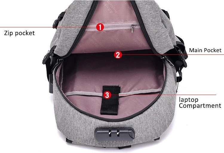 Gray Dry Bag Waterproof Custom Backpack With Logo