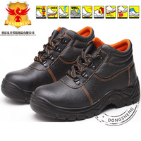 Cheap Black Leather Steel Toe SBP