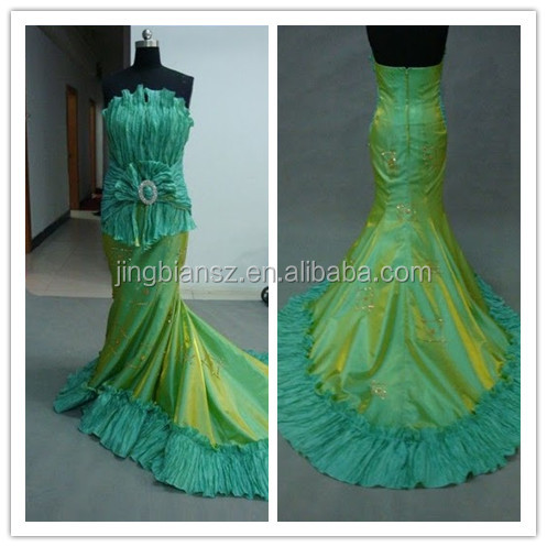2014 Classic beautiful reality pictures red carpet evening dress #OE11