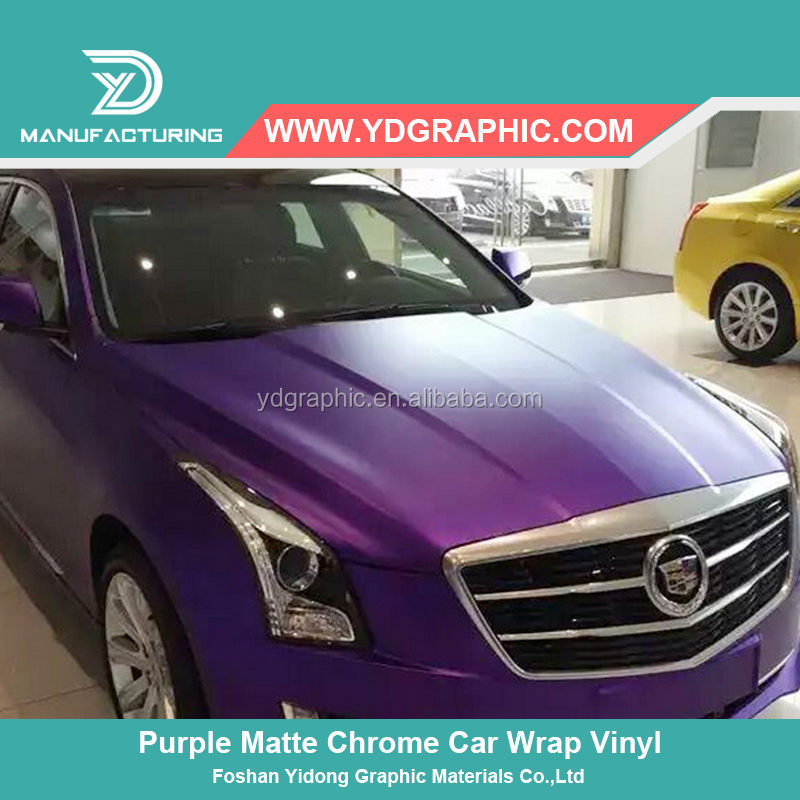 PVC Material Purple Metallic Matt Chrome Vinyl Sticker Car Wrap