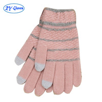 Women winter warm Wool e Touch Screen knit Gloves for zte or huawei