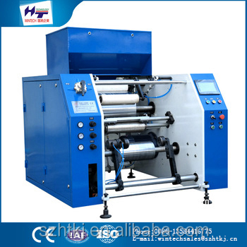 HT-350mm high quality Automatic Aluminium Foil Roll Rewinding Machine