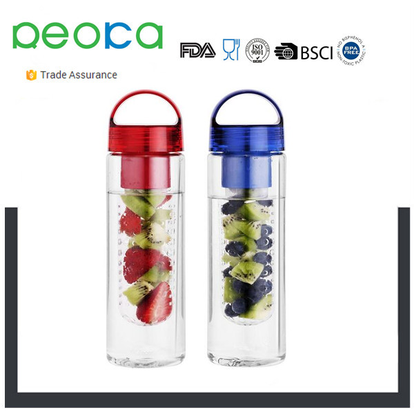 Sport Tritan Fruit Infuser BPA Free Shatter Proof Spout Less Twist Off Cap Absolutely Leak Proof 24OZ