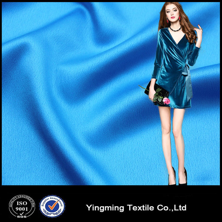 High quality noble silk like satin chiffon fabric for evening party dress women official cloth