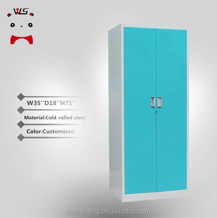 WLS high quality home design 2 door clothing steel locker/wardrobe