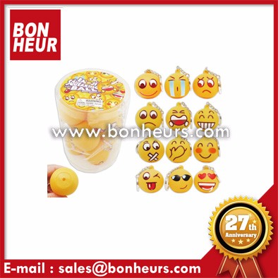 42Mm Ball Stress Reliever Emoji Squeeze Smile Ball Key Chain