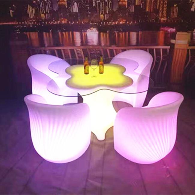 Classic Versatile Livingroom Yard Lounge Bar Leisure Led Two Seats ...