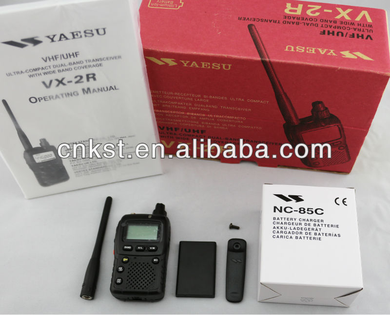 Aircraft bands 108-137MHz Portable Yaesu VX-2R Walkie Talkie