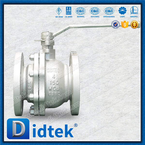 Didtek manual low torque ball lever operated ball valve carbon steel cast steel wcb flange end floating ball valve