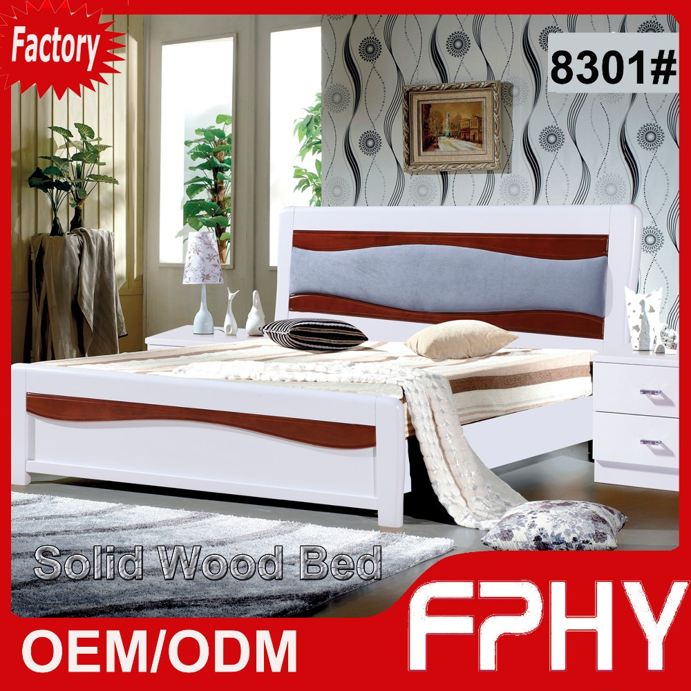 FPHY manufacturer bedroom furniture 83# series solid wood customized bed philippines