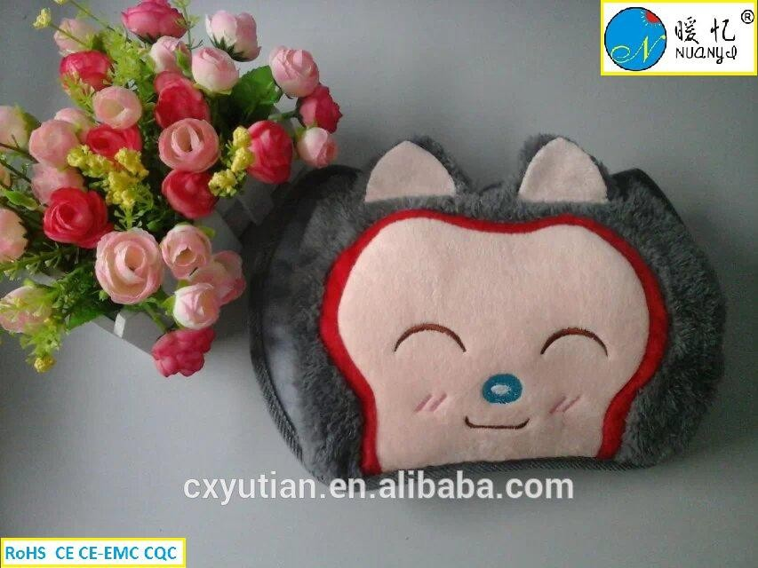 Cixi cerfiticated electric hot water bag, hot water bottle with cover