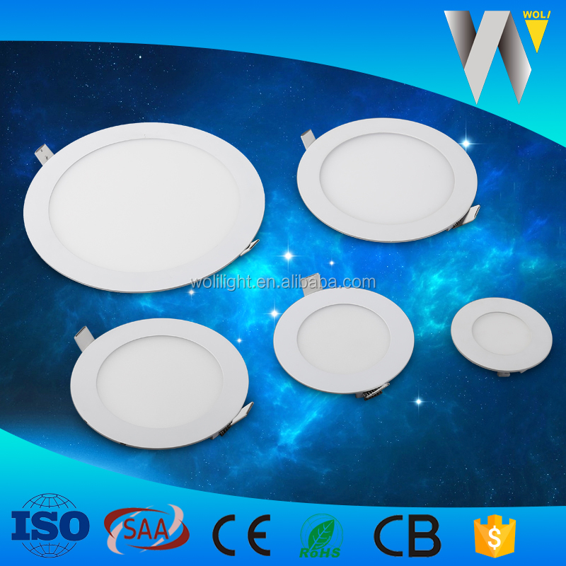 120 degree Aluminum 18w led panel light round slim with PC LGP