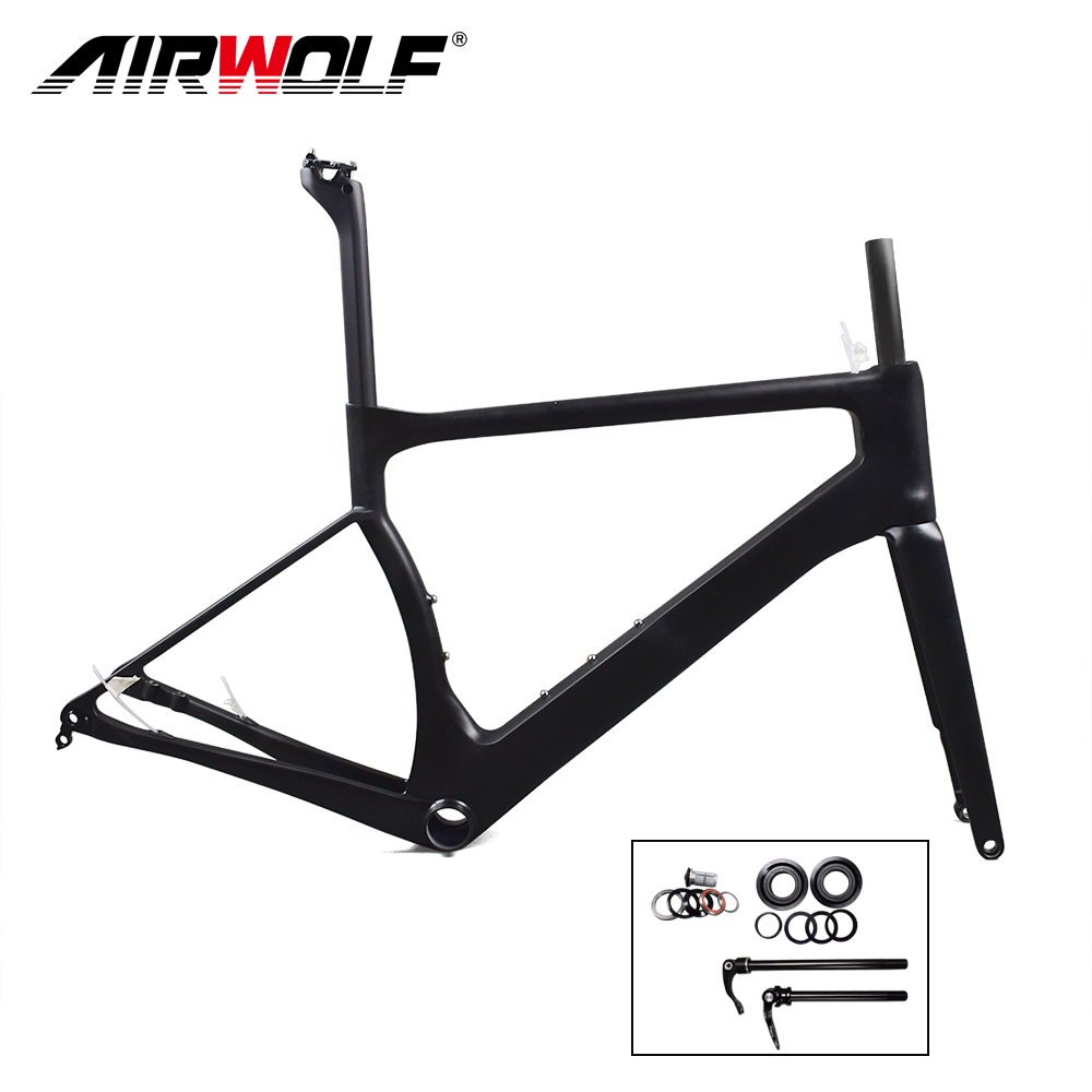 2018 Latest carbon road disc brake frame thru axle 142mmX12mm Cadre Carbone front 100mmX12mm 160 disc carbon frame